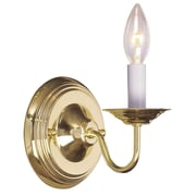 Livex Lighting 1-Light Polished Brass Wall Sconce (5017-02)