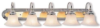 Livex Lighting 5-Light Chrome and Polished Brass Bath Vanity Light (1005-52)