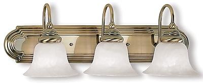 Livex Lighting 3-Light Wall Antique Brass Medium Bath Vanity (1003-01)