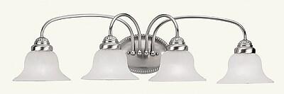 Livex Lighting 4-Light Brushed Nickel Bath Vanity Light (1534-91)