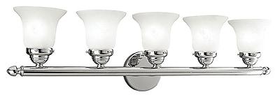 Livex Lighting 5-Light Chrome Bathroom Vanity Light (1065-05)