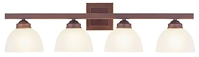 Livex Lighting 4-Light Vintage Bronze Bath Vanity (4204-70)