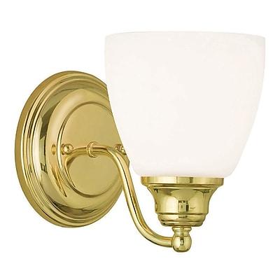 Livex Lighting 1-Light Polished Brass Wall Sconce (13671-02)