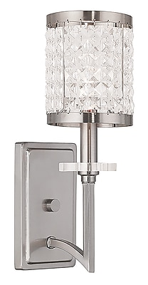 Livex Lighting 1-Light Brushed Nickel Wall Sconce (50561-91)