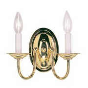 Livex Lighting 2-Light Polished Brass Wall Sconce (4152-02)