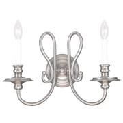 Livex Lighting 2-Light Brushed Nickel Wall Sconce (5162-91)