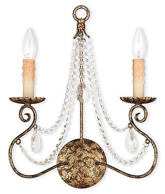 Livex Lighting 2-Light European Bronze Sconce (51902-36)
