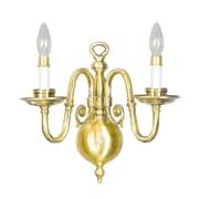 Livex Lighting 2-Light Polished Brass Wall Mount Sconce (5302-02)