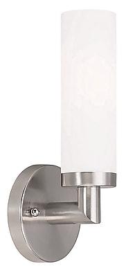 Livex Lighting 1-Light Brushed Nickel Sconce (10103-91)