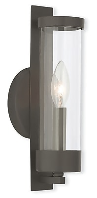 Livex Lighting 1-Light Bronze Wall Sconce with Clear Glass (10141-07)