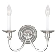 Livex Lighting 2-Light Polished Nickel Wall Sconce (5142-35)