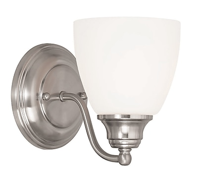 Livex Lighting 1-Light Brushed Nickel Wall Sconce (13671-91)