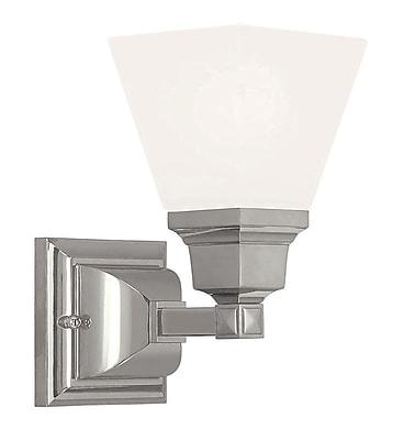 Livex Lighting 1-Light Polished Nickel Sconce (1031-35)