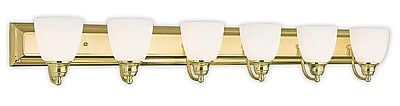 Livex Lighting 6-Light Polished Brass Bath Light (10506-02)