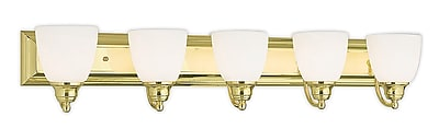 Livex Lighting 5-Light Polished Brass Bath Light (10505-02)