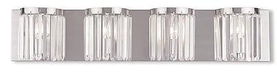Livex Lighting 4-Light Brushed Nickel ADA Bath Light (50534-91)