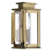 Livex Lighting 1-Light Antique Brass Wall Lantern with Clear Glass (20191-01)
