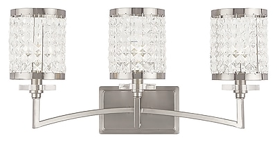 Livex Lighting 3-Light Brushed Nickel Bath Light (50563-91)