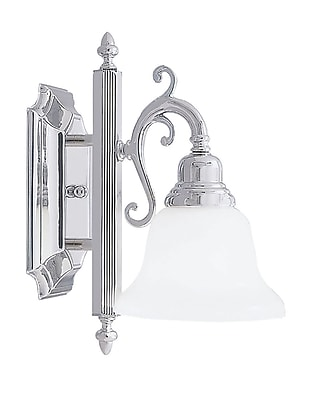 Livex Lighting 1-Light Wall Chrome Medium Bath Vanity (1281-05)