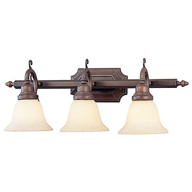 Livex Lighting 3-Light Imperial Bronze Bath Light with Vintage Scavo Glass (1193-58)