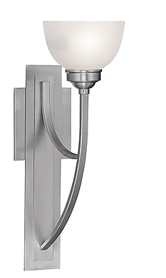 Livex Lighting 1-Light Brushed Nickel Wall Sconce with Satin Glass (4230-91)