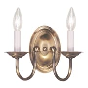 Livex Lighting 2-Light Antique Brass Sconce (4152-01)