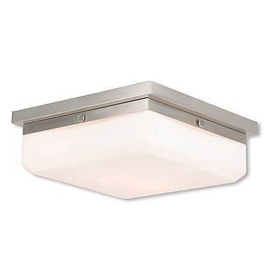 Livex Lighting 3-Light Brushed Nickel ADA Sconce (65537-91)