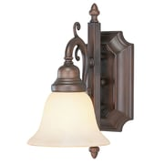 Livex Lighting 1-Light Imperial Bronze Bath Light with Vintage Scavo Glass (1191-58)