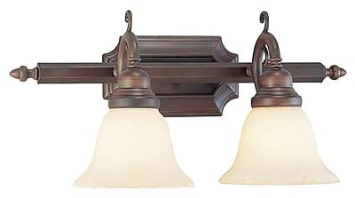 Livex Lighting 2-Light Imperial Bronze Bath Light with Vintage Scavo Glass (1192-58)