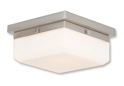 Livex Lighting 2-Light Brushed Nickel ADA Sconce (65536-91)