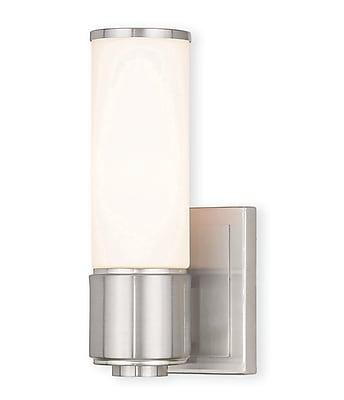 Livex Lighting 1-Light Brushed Nickel ADA Bath Light (52121-91)