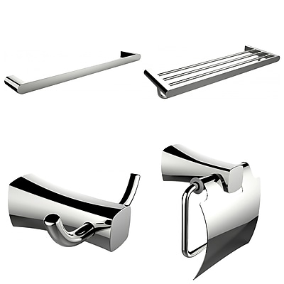 American Imaginations Single and Multi-Rod Towel Rack with Robe Hook and Toilet Paper Holder (AI-14008)