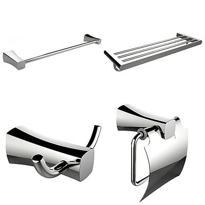 American Imaginations Single and Multi-Rod Towel Rack with Robe Hook and Toilet Paper Holder (AI-13998)