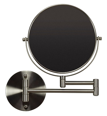 """""American Imaginations 19.56""""""""W Magnifying Mirror Brushed Nickel (AI-20277)"""""" 24268884"
