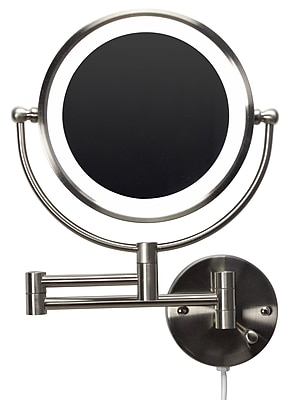 """""""""""American Imaginations 20.83""""""""""""""""W Magnifying Mirror Brushed Nickel (AI-20275)"""""""""""" 24269053"""