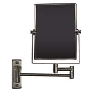 "American Imaginations 16.36""W Magnifying Mirror Brushed Nickel (AI-20278)"