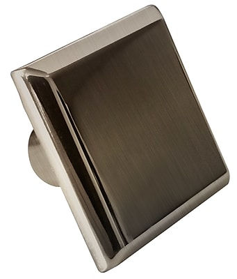 """""American Imaginations 1.20""""""""W Square Brass Cabinet Knob in Brushed Nickel Color Brushed Nickel 1 (AI-376)"""""" 24270587"