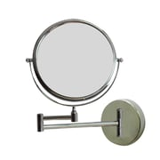 "American Imaginations 19.56""W Magnifying Mirror Chrome (AI-645)"