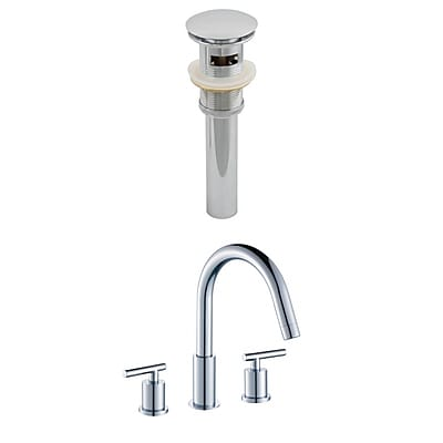 American Imaginations CUPC Approved Brass Faucet Set in Chrome (AI-8022)
