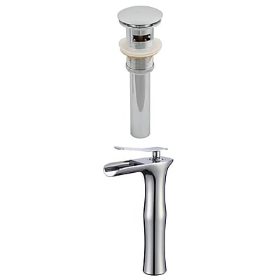 American Imaginations Deck Mount CUPC Approved Brass Faucet Set in Chrome (AI-23441)