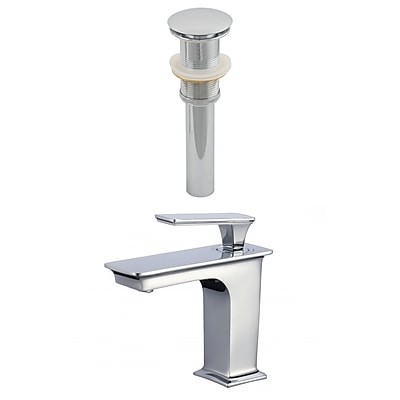 American Imaginations CUPC Approved Brass Faucet Set in Chrome (AI-23444)