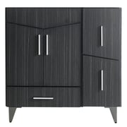 "American Imaginations 36""W 17""D Modern Plywood-Melamine Vanity Base Set Only in Dawn Grey (AI-19562)"
