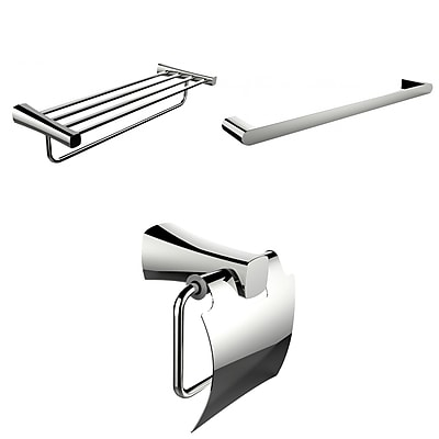 American Imaginations Single and Multi-Rod Towel Racks With Toilet Paper Holder Accessory Set (AI-13946)
