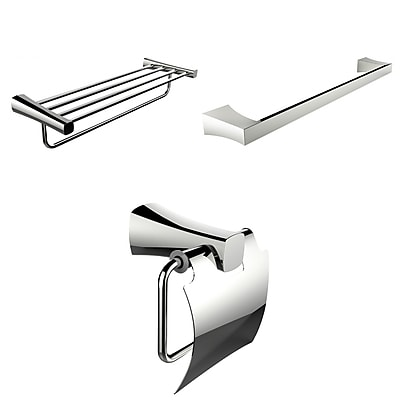 American Imaginations Single and Multi-Rod Towel Racks With Toilet Paper Holder Accessory Set (AI-13944)
