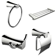 American Imaginations Multi-Rod Towel Rack With Towel Ring, Robe Hook and Toilet Paper Holder Accessory Set (AI-13978)