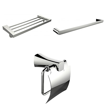 American Imaginations Single and Multi-Rod Towel Racks With Toilet Paper Holder Accessory Set (AI-13951)