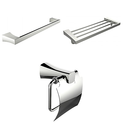 American Imaginations Single and Multi-Rod Towel Racks With Toilet Paper Holder Accessory Set (AI-13948)
