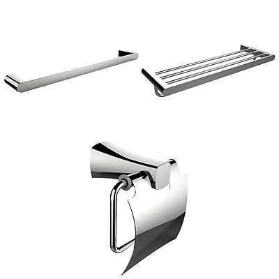 American Imaginations Single and Multi-Rod Towel Racks With Toilet Paper Holder Accessory Set (AI-13953)