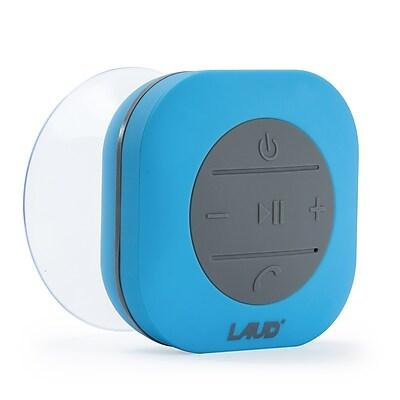 Portable Bluetooth Shower Speaker- IPX4 Waterproof, Built In Mic - Blue