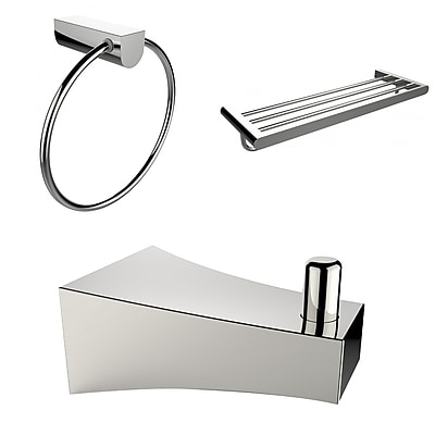 American Imaginations Robe Hook, Multi-Rod Towel Rack and Towel Ring Accessory Set (AI-13541)